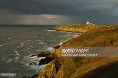 Photo : France, Ille et Vilaine, Cote d'Emeraude (Emerald Coast), Cancale, Pointe du Grouin and semaphore
