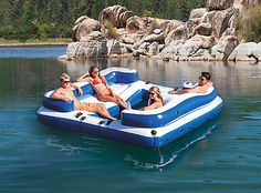 Intex-Oasis-Island-Inflatable-Lake-River-Seated-Floating-Water-Lounge-Raft