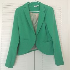 Green blazer Worn once! Great condition. Papaya Jackets & Coats Blazers