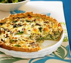 Broccoli & Chicken Quiche