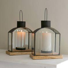 Scandi-style metal lanterns for all seasons.