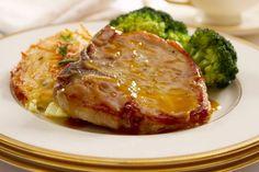 Chuletas de cerdo con salsa de piña