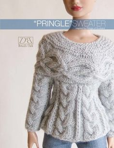 Items similar to Knitting pattern for doll (Tyler Wentworth): Pringle Sweater on Etsy Barbie Knitting Patterns, Knitting Dolls Clothes, Barbie Patterns, Knitted Dolls, Crochet Patterns, Barbie Dress, Barbie Clothes, Moda Barbie, Barbie Style