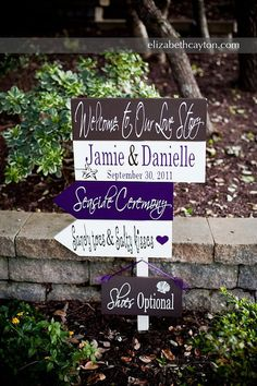 Directional arrow sign Names and Date with by OurHobbyToYourHome, $121.95