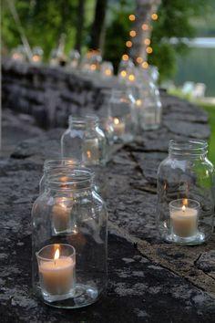 Gartenparty Deko Kerzen im Glas *** Outdoor lightning romantic idea Mason Jar candles