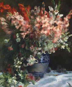 Pierre-Auguste Renoir - Gladioli in a Vase
