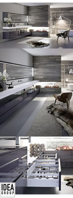 Ideagroup's design experience and manufacturing tradition result in a furnishing collection that creates new personal spaces in the #bathroom - Nyù Collection #Ideagroup