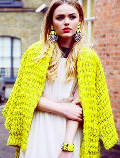 bright yellow #style