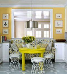 Perfect Yellow Dining Room Walls | photo Ngoc Minh Ngo | via House Beautiful |House  Home dining-room