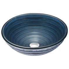 ANZZI Tempo Series Deco-Glass Vessel Sink in Coiled Blue