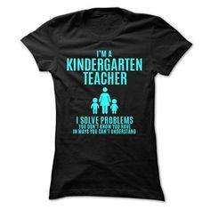 Kindergarten Teacher T Shirts, Hoodies, Sweatshirts. CHECK PRICE ==► https://www.sunfrog.com/LifeStyle/Kindergarten-Teacher-ladies.html?41382