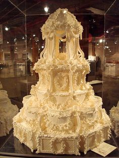 uh, I mean beautiful cakes - Victorian Wedding Cake by Cile Bellefleur Burbidge Beautiful Wedding Cakes, Gorgeous Cakes, Pretty Cakes, Amazing Cakes, Take The Cake, Love Cake, Unique Cakes, Creative Cakes, Victorian Wedding Cakes