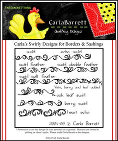 Carla Swirly Designs for Borders and sashing
