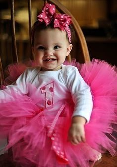 oh so in love, first birthday, pink tutu