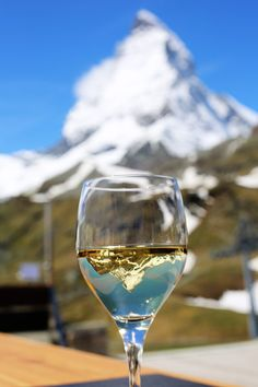 Summer in Switzerland with a chilled glass of wine (That looks like an adventure that would be worth having)