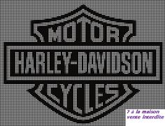 Le logo Harley Davidson en grille gratuite :