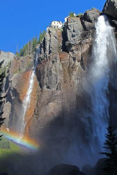 End of the Rainbow... found. Telluride, Colorado - Oh man, the memories of this waterfall! Worth the hike!
