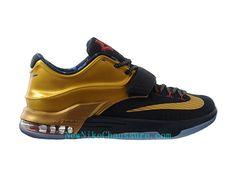 more photos 3714c 44eba Nike KD 7 Premium Gold Medal - Chaussure De Basket-ball pour Homme Pas Cher  Noir-706858-476 - Boutique Nike, Nike Baskets Pas Cher en Ligne