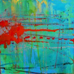 Colorful Original Abstract Painting 'I am I am I' by MadwithRapture / Patti Agapi