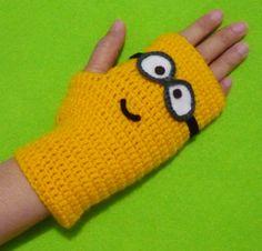 Crochet Fingerless Gloves Minion Inspired. $39.00, via Etsy.