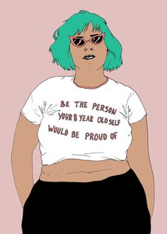 trait(s) pour trait(s). body positive motivation and inspiration. Feminist quotes and actions for The Indie Practice. Body Love, Loving Your Body, Phrase Cute, Body Positivity, Feminist Art, Feminist Quotes, Affirmations, Intersectional Feminism, Body Image