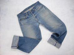 Levi's True Vintage 501 Whisker/HIGE Fade Redline Selvedge Denim Jeans Size 35 x 32.