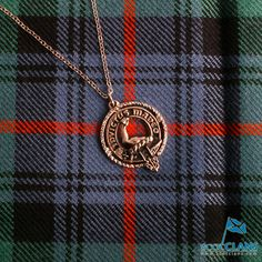 Armstrong Clan Crest Pendant, Made in Scotland, Available from Scotclans - Order yours today.