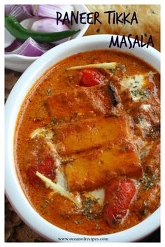 Paneer tikka masala Paneer Tikka, Vegetarian Curry, Indian Food Recipes, Ethnic Recipes, Indian Dishes, Curries, Oven, Cooking, Kitchen