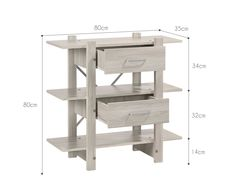 Display Shelves Cabinet Stand Storage Bookshelf Book Drawer
