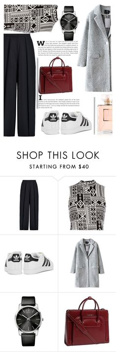 """This is exactly what I wore today"" by nata0 ❤ liked on Polyvore featuring Iris & Ink, River Island, adidas Originals, Calvin Klein and McKleinUSA"
