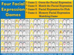 Play four (4) games with printable facial expression cards