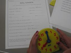 teaching elapsed time with your class schedule