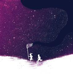 Starfield illustration by Budi Satria Kwan