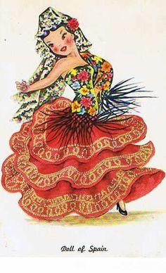 Vintage Postcard Spain Postcard Spanish door heritagegeneralstore