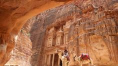 A huge monument has been discovered buried under the sands at the Petra World Heritage site in southern Jordan. petra petra world heritage jordan Drones, City Of Petra, Seven Wonders, Famous Landmarks, Lost City, Indiana Jones, Ultimate Travel, World Heritage Sites, Archaeology