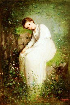 O floare între flori - Nicolae Grigorescu, romanian painter Art Magique, Portraits, Claude Monet, Beautiful Paintings, Oeuvre D'art, Love Art, Art Blog, Female Art, Painting & Drawing