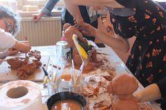 """Atelier poterie en partenariat avec le conseil départemental à l'occasion de la semaine ''égalité, fraternité, agissez !""""  http://www.fondationsolangebertrand.fr/"""