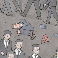 As ilustrações satíricas de Anton Gudim