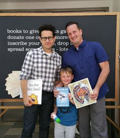 Thanks to J.J. Abrams for supporting literacy! #milkandbookies #jjabrams #starwars