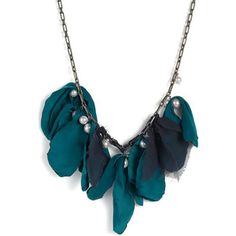 $450 Lanvin Necklace. DIY with silk ribbon and pearl beads.