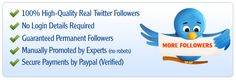 Looking to get more twitter followers cheaply? We offer a variety of services to get you started.