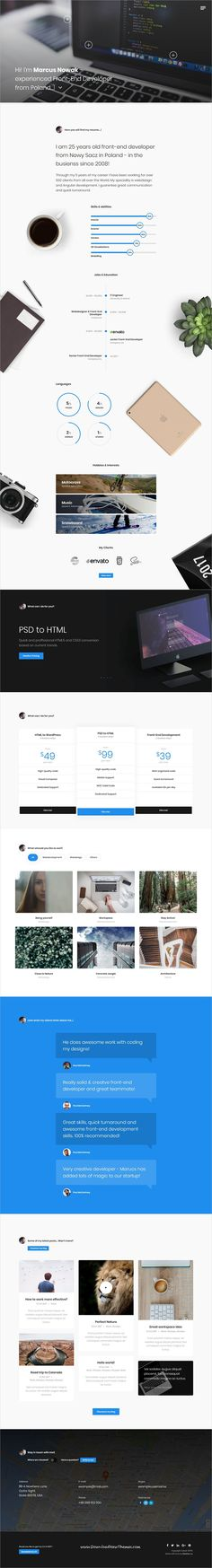 Personal Resume Website Examples Personal Website Pinterest - personal resume websites
