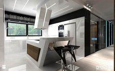 nowoczesna biała kuchnia - Kuchnia - Styl Nowoczesny - ARTDESIGN architektura wnętrz