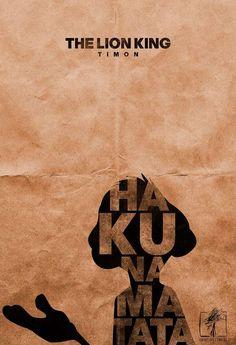 Typographic Minimalist Movie Posters - Timon