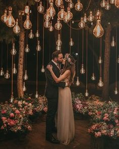 20 Edgy Edison Bulb Wedding Ideas – Wedding Inspiration – Ideas - Decoration For Home Wedding Night, Wedding Bells, Wedding Bride, Spring Wedding, Tent Wedding, Wedding Dresses, Wedding Tips, Bad Bridesmaid Dresses, Indoor Garden Wedding Reception