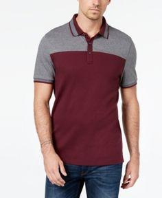 Michael Kors Men's Colorblocked Polo - Cordovan/Ash Melange S Shirt Men, T Shirt, Michael Kors Men, Camisa Polo, Short Sleeve Polo Shirts, Cotton Shorts, Mens Tops, How To Wear, Fashion
