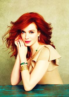 Christina Hendricks looks so beautiful with red hair.  You would think it was natural!