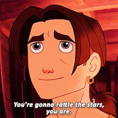 """""""Look at you, glowing like a solar fire. You're something special, Jim."""" - Silver (Treasure Planet)"""