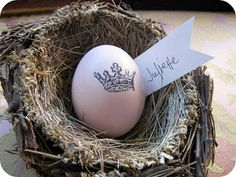 Originate and Renovate: Rubber Stamped Easter Egg
