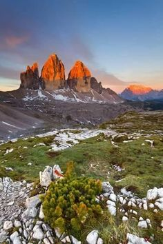 Landscape, province of Belluno , Veneto , Dolomites, Italy - Tre Cime di… Italy Vacation, Italy Travel, Terre Nature, Wonderful Places, Beautiful Places, Image Nature, Italy Landscape, Places Around The World, Amazing Nature